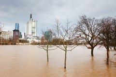 Vloed in Frankfurt Royalty-vrije Stock Afbeeldingen