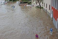 Vloed in Heidelberg Royalty-vrije Stock Afbeeldingen