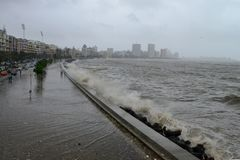 Vloed in Mumbai stock foto