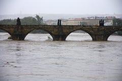Vloed in Praag Royalty-vrije Stock Fotografie