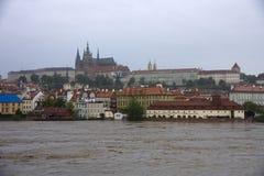 Vloed in Praag Royalty-vrije Stock Foto's