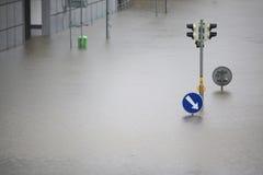 Vloed in Praag, Tsjechische Republiek, Juni 2013 Stock Afbeelding