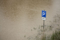 Vloed in Praag, Tsjechische Republiek, Juni 2013 Royalty-vrije Stock Foto