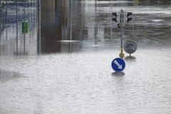 Vloed in Praag, Tsjechische Republiek, Juni 2013 Royalty-vrije Stock Fotografie