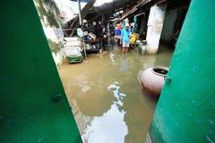 Vloed in Thailand Stock Afbeelding