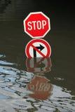 Vloed in Usti-nad Labem, Tsjechische Republiek Stock Afbeelding