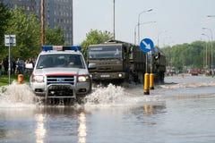 Vloed in Wroclaw, Kozanow 2010 Royalty-vrije Stock Afbeeldingen