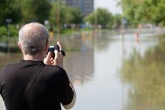 Vloed in Wroclaw, Kozanow 2010 Stock Afbeelding