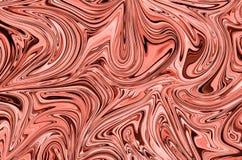 Vloeibaar Abstract Patroon met Levende Coral Graphics Color Art Form Digitale Achtergrond met Vloeibare Stroom stock illustratie