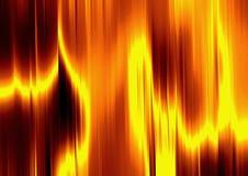 Vloeibaar goud op brand Stock Fotografie