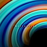 Vloeibaar het mengen zich van de kleuren vectorgolf abstract ontwerp als achtergrond Kleurrijke netwerkgolven Stock Fotografie