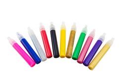 Vloeibaar kleurennagellak Stock Foto