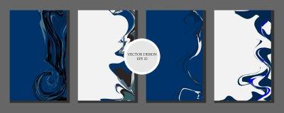 Vloeibaar marmeren textuurontwerp Lichte kleur Kleurrijke abstracte samenstelling Mengsel van acrylverven Vloeibare kunst - Vecto vector illustratie