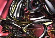 Vloeibaar Metaal 02 Stock Afbeeldingen