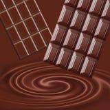 Vloeibare chocolade Royalty-vrije Stock Foto's