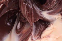 Vloeibare chocoladeroom Royalty-vrije Stock Afbeelding