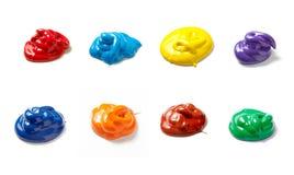 Vloeibare de kleurenvlek van de verfdaling Royalty-vrije Stock Afbeeldingen