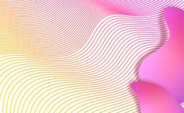 Vloeibare elementen, gemengde kleuren plastic vormen of organische bellen vector illustratie