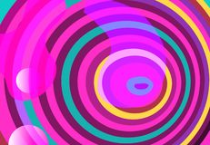 Vloeibare elementen, gemengde kleuren plastic vormen of organische bellen stock illustratie