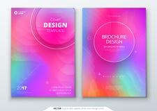 Vloeibare geplaatste kleurendekking Vloeibare vormensamenstelling Futuristische ontwerpaffiches Eps10 Vector Stock Foto's
