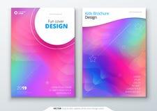 Vloeibare geplaatste kleurendekking Vloeibare vormensamenstelling Futuristische ontwerpaffiches Eps10 Vector Royalty-vrije Stock Fotografie