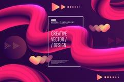 Vloeibare golf abstracte 3d vector als achtergrond stock illustratie