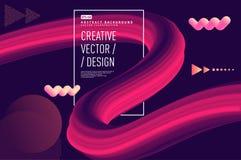 Vloeibare golf abstracte 3d vector als achtergrond vector illustratie