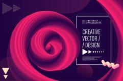 Vloeibare golf abstracte 3d vector als achtergrond royalty-vrije illustratie