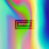 Vloeibare iriserende multicolored achtergrond royalty-vrije illustratie