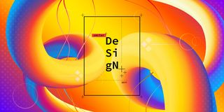 Vloeibare kleuren geometrische achtergrond Stock Afbeeldingen