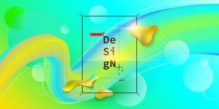 Vloeibare kleuren geometrische achtergrond royalty-vrije stock afbeeldingen