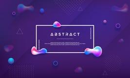 In Vloeibare kleurenachtergrond Moderne purpere achtergrond met abstracte vloeistof Moderne Futuristische vloeibare ontwerpaffich vector illustratie