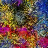 Vloeibare lijnen van kleur Royalty-vrije Stock Foto's