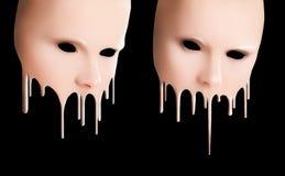 Vloeibare maskers Royalty-vrije Stock Afbeeldingen