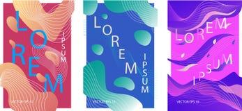 Vloeibare organische kleurrijke affiches royalty-vrije illustratie