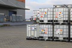 Vloeibare pallets Stock Fotografie