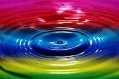 Vloeibare regenboog Stock Afbeelding