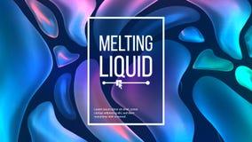 Vloeibare Vloeibare Vector Als achtergrond In dekking De vloeibare 3D Dalingen van Gradiënt Vloeibare Vormen Chemische illustrati Stock Fotografie