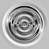 vloeibare zilveren rimpelingen of golven Stock Afbeelding