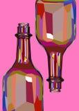 Vloeistof van het ontwerpschaduwen van het wijn de witte glas Stock Afbeelding