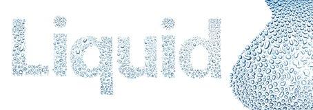Vloeistof van waterdalingen wordt gemaakt, achtergrond op wit dat vector illustratie