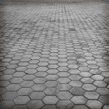 Vloer het bedekken tegels of de vloer van de cementbaksteen Stock Afbeelding