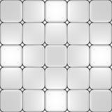 Vloer met verschillende witte tegels Royalty-vrije Stock Fotografie