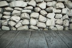 Vloer van de perspectief de houten plank of gangmanier Stock Fotografie