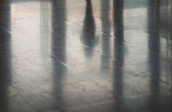 Vloerbezinningen en Silhouetten Stock Foto