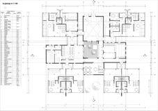 Vloerplan van de kleuterschool royalty-vrije illustratie