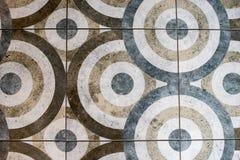 Vloertegel in de vorm van een cirkeltextuur stock afbeelding