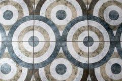 Vloertegel in de vorm van een cirkeltextuur stock afbeeldingen