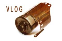 Vlog cocept. Video blog. Vlog concept, video blog. Selective focus royalty free stock images