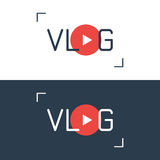 Vlog vector sign Royalty Free Stock Image